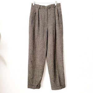 Vintage Ralph Lauren Wool Tweed High Rise Pant 176